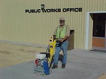 Streets Department maintaining sidewalks