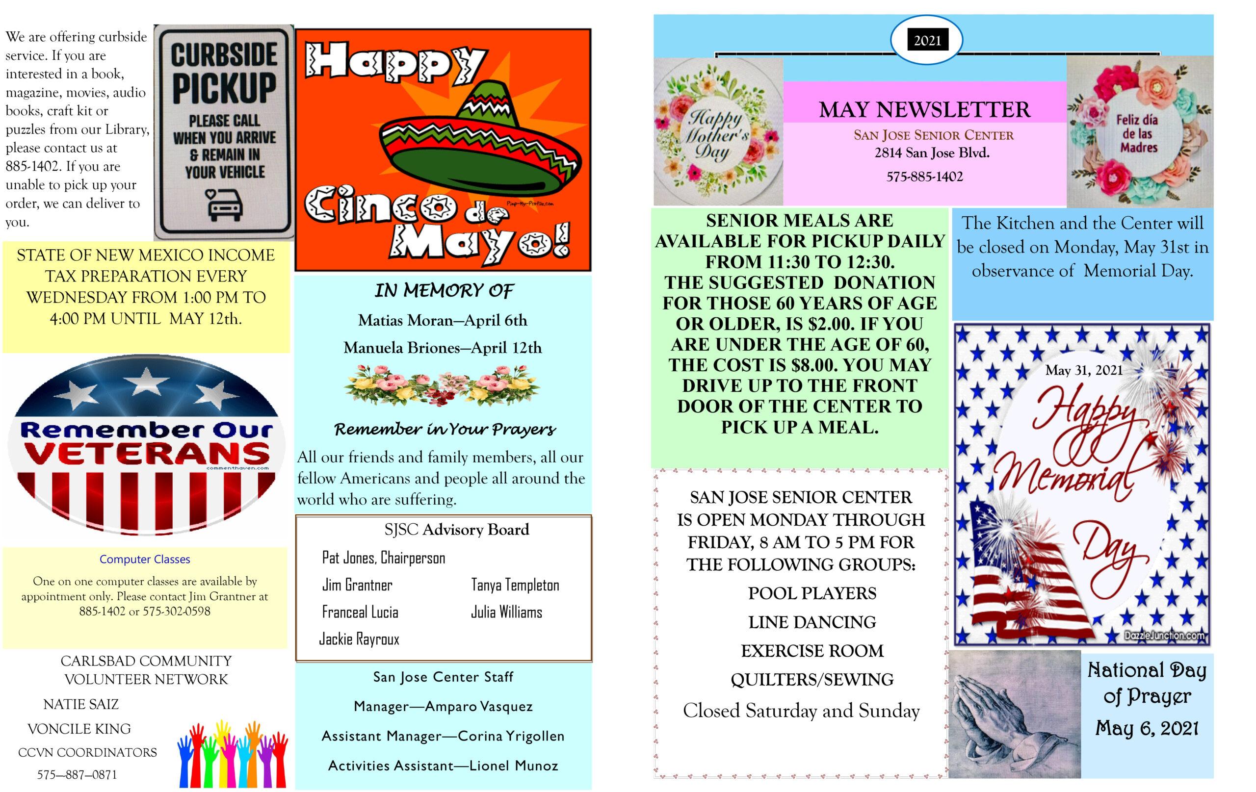 San Jose May Newsletter