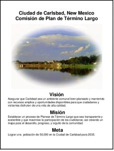 Icon of Long Term Planning Committee Plan Mission-Vision Spanish 110203