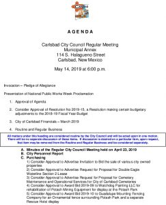 Icon of 05-14-19 City Council Agenda