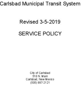 Icon of SERVICE POLICY Rev 03-5-19