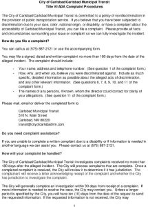 Icon of Carlsbad Discrimination Complaint Form And Procedures
