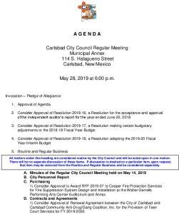Icon of 05-28-19 City Council Agenda