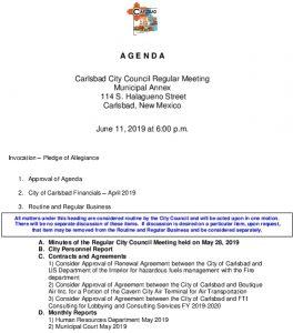 Icon of 06-11-19 City Council Agenda
