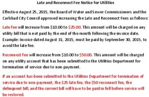 Icon of Late And Reconnect Fee Notice For Utilities