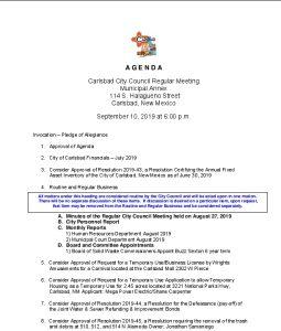 Icon of 09-10-19 CC Agenda Packet