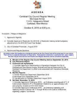 Icon of 10-08-19 City Council Agenda Packet