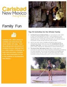 Icon of Carlsbad Itinerary Family Fun Web