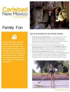 Icon of Carlsbad Itinerary Family Fun Web