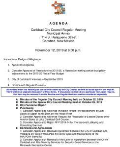 Icon of 11-12-19 City Council Agenda