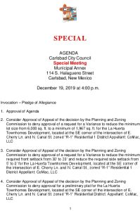 Icon of 12-19-19 CC Special Agenda Packet