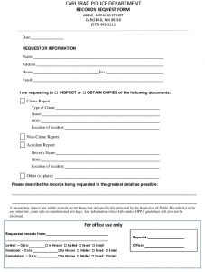 Icon of Police Dept Request Form