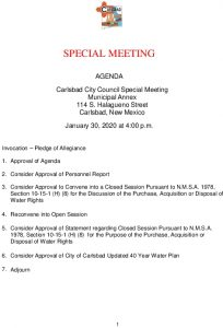 Icon of 01-30-20 Special CC Agenda Packet
