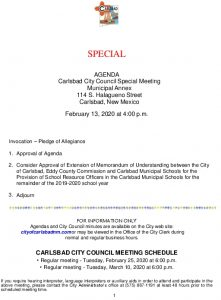 Icon of 02-13-20 Special Agenda Packet