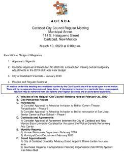 Icon of 03-10-20 CC Agenda Packet