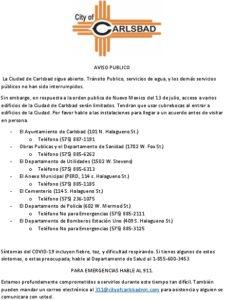 Icon of 7-13-20 Public Notice Spanish