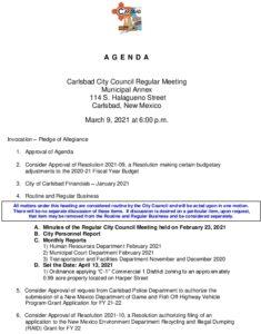 Icon of 03-09-21 CC Agenda Packet