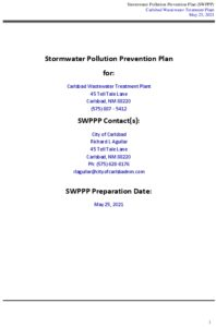 Icon of Carlsbad WWTP 2021 MSGP SWPPP FINAL