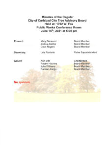 Icon of 061521 Minutes Of Reg  City Tree Board - NO Quorum