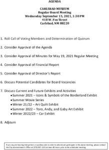 Icon of 09-15-21 Museum Agenda