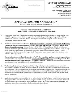 Icon of APPLICATION FOR ANNEXATION