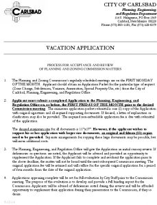 Icon of APPLICATION FOR VACATION