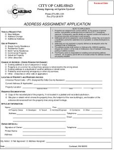 Icon of APPLICATION FOR ADDRESS ASSIGNMENT