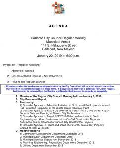 Icon of 01-22-19 Agenda