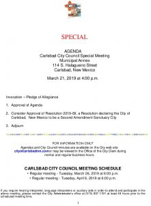Icon of 03-21-19 Special City Council Agenda Packet